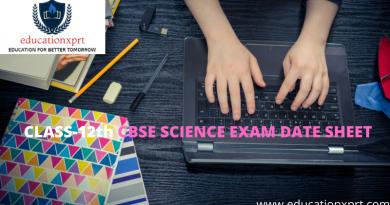 CBSE 12th SCIENCE EXAM DATE SHEET