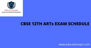 CBSE 12th ARTs Exam