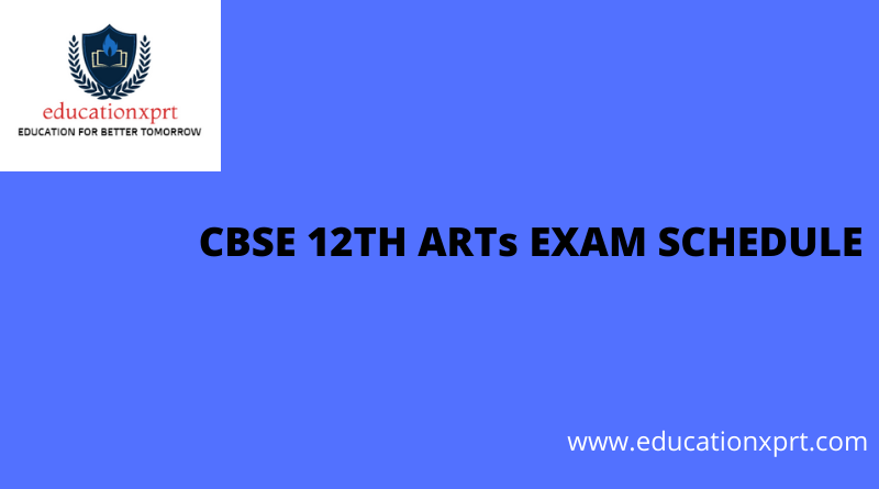 CBSE 12th ARTs Exam