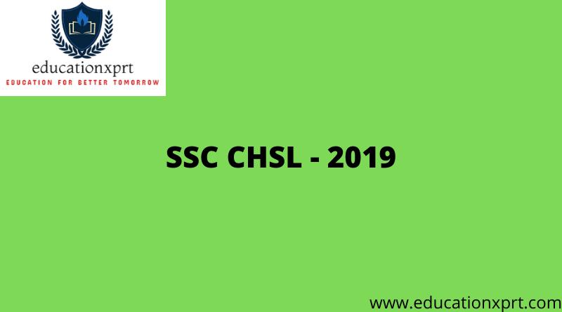 SSC CHSL - 2019