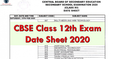 12th commerce date sheet